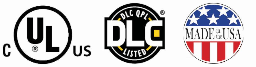 UL, DLC, MiA logos