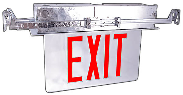 ELR - LED Recessed Edgelit Exit Sign Image