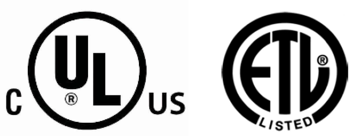 UL, ETL logos