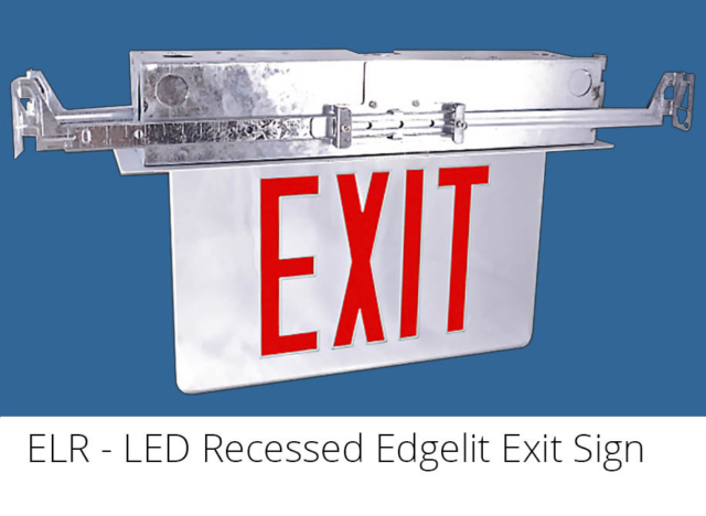 ELR - LED Recessed Edgelit Exit Sign