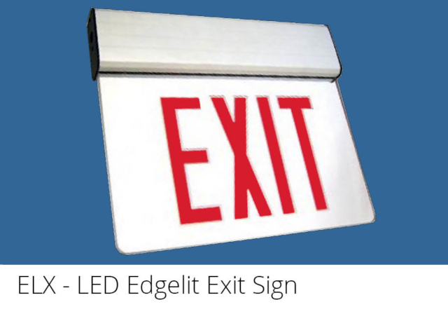 ELX - LED Edgelit Exit Sign