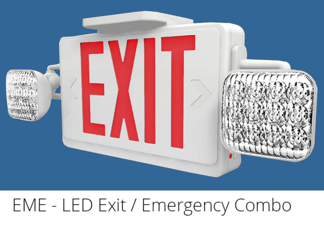 exit emergency sign combo