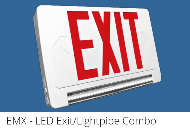 EMX - LED Exit / Lightpipe Emergency Combo