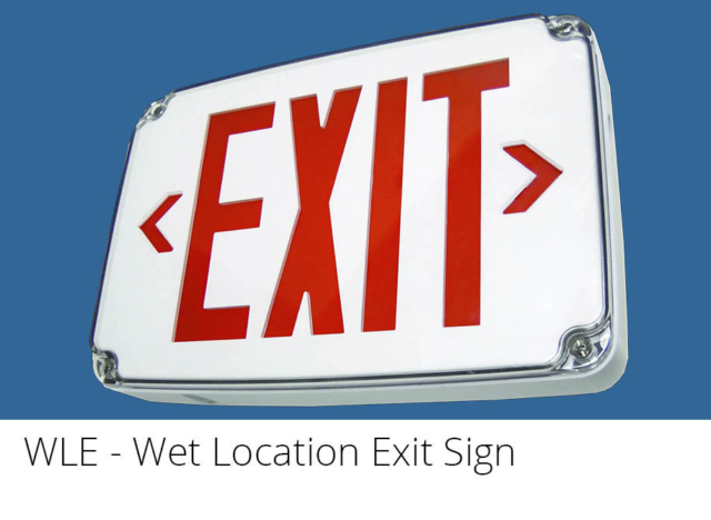 WLE - Wet Location Exit Sign